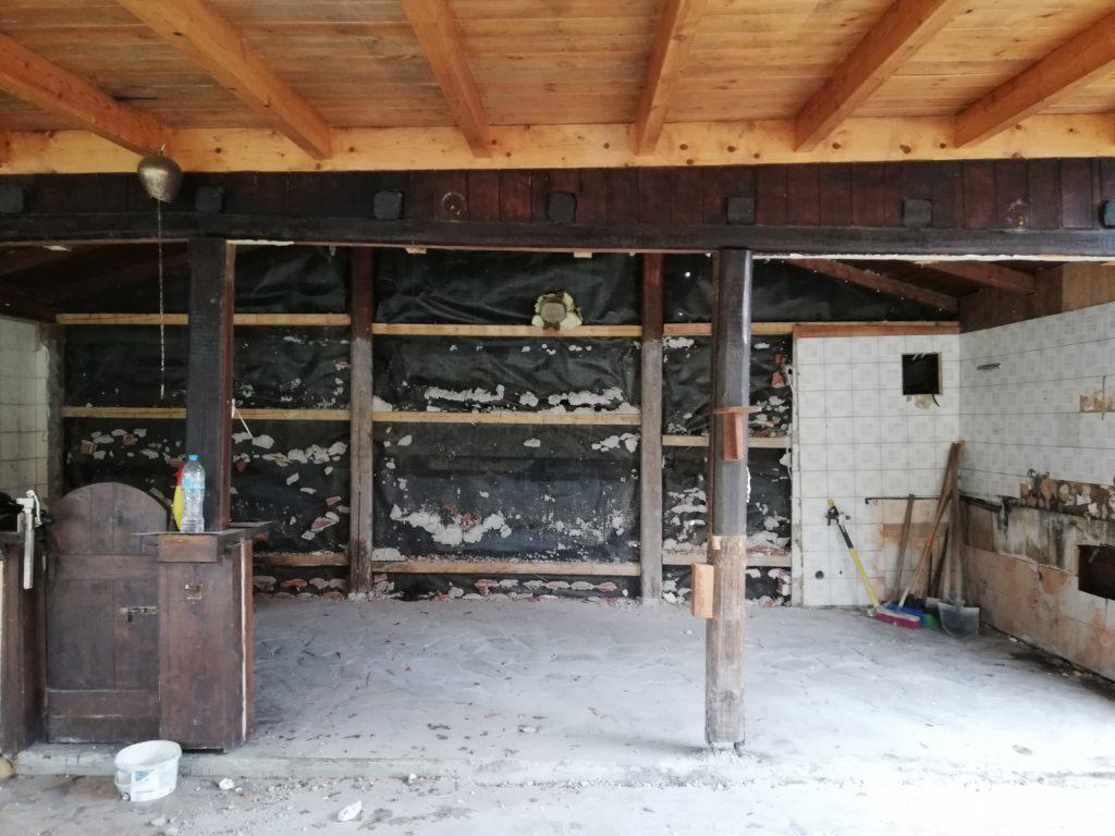 Umbau 2019 Rückbau der Küche