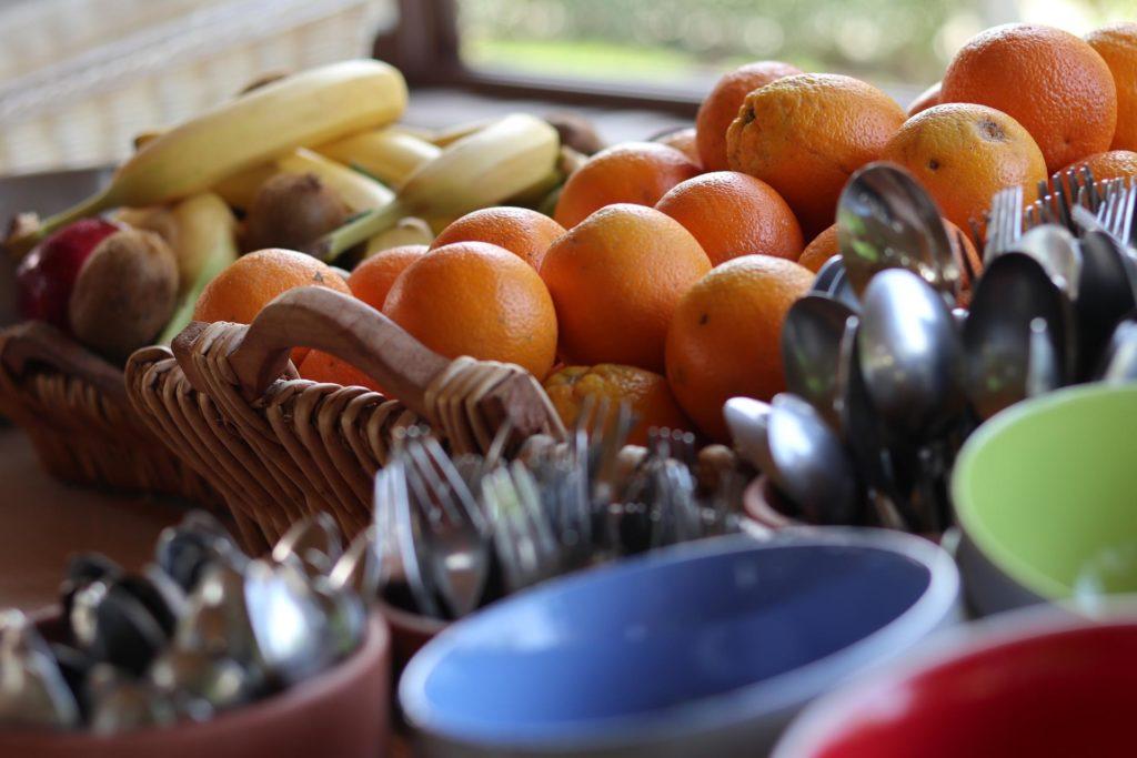 Frisches Obst Frühstücksbuffet Honigtal Farmland